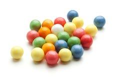 Bubble gum balls. Colorful bubble gum balls isolated on white Stock Image