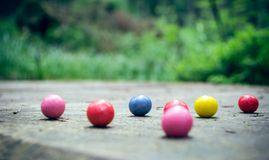 Bubble gum balls in the forest Royalty Free Stock Images