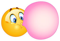 Bubble Gum Emoticon Royalty Free Stock Photography