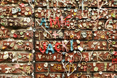Bubble Gum Graffiti On Wall Royalty Free Stock Photos