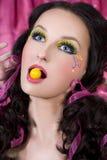 Bubble-gum jaune images libres de droits