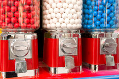 Bubble gum machine. Three Bubble gum machines in a row Stock Photo