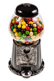 Bubble Gum machine. A bubble gum vending machine isolated over white background Royalty Free Stock Images