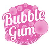 Bubble gum sign or stamp. On white background, vector illustration vector illustration