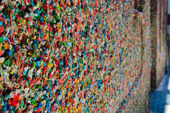 Bubble Gum Wall in Seattle Washington Royalty Free Stock Photography