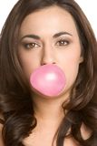 Bubble Gum Woman Royalty Free Stock Photos