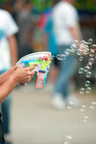 Bubble Guns Blow Bubbles At County Fair Royalty Free Stock Photo