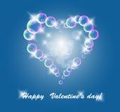 Bubble heart Stock Image