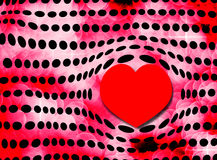Bubble Heart and Polka Dots Stock Photo