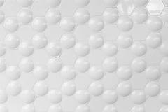 Bubble in a hexagon Stock Photo