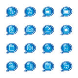 Bubble household icons Stock Photography