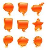 Bubble icons. Illustration of orange bubble icons royalty free illustration