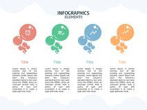 Bubble Infographic template and smart business. Infographic elements, designs cover all styles and creative to formal and business presentations, flyer and Stock Images
