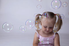 Bubble and kid Stock Image