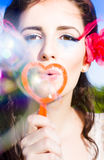 Bubble Kisses Stock Image