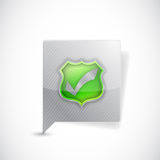 Bubble and leaves message illustration design Royalty Free Stock Photos