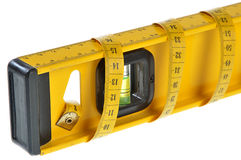 Bubble Level And Measuring Tape Royalty Free Stock Photos