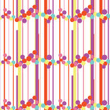 Bubble Line. Colorful Bubble Pop Line Pattern Royalty Free Stock Photos