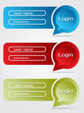 Bubble login. Modern bubble conversation log-in Stock Photo