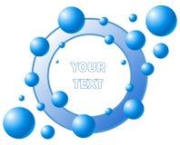 Bubble logotype. Aqua blue frame. Vector illustration royalty free illustration