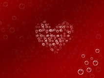 Bubble love. Background Stock Photography