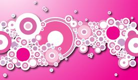 Bubble magenta shadow. A design based around a magenta and circular theme Royalty Free Stock Photography