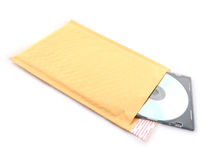 Bubble mailer with cd Royalty Free Stock Photo