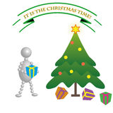 Bubble Man - Christmas Time Royalty Free Stock Photos