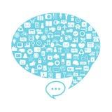 Bubble media icons. Illustration of bubble media icons Stock Photography