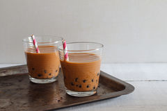 Bubble milk tea. Stock Photos