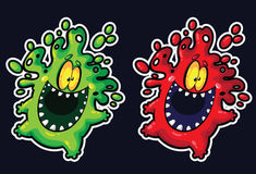 Bubble monster mascot Royalty Free Stock Photography