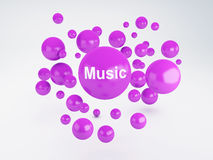 Bubble of music icon. Social network concept Stock Image