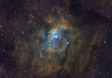 The Bubble Nebula. An emission nebula about 11,000 light years away in the constellation Cassiopeia stock photo