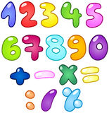 Bubble numbers. Colorful bubble-shaped numbers set Royalty Free Illustration