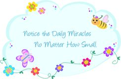 Free Bubble Of Daily Miracles, Bee, Butterfly, And Flow Stock Photos - 13294253