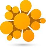 Bubble orange infographics design Stock Photo