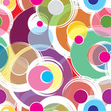 Bubble ornamental background. Circle seamless pattern Stock Images