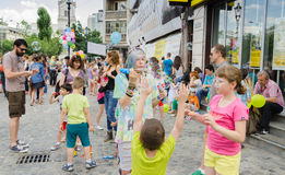 The Bubble Parade 2015 Royalty Free Stock Image