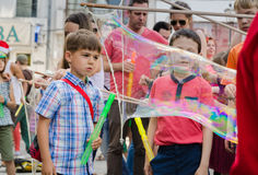 The Bubble Parade 2015 Stock Photography