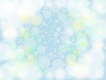 Bubble on pastel blue vector illustration