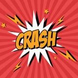 Bubble pop art of crash design Stock Image