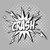 Bubble pop art of crash design Royalty Free Stock Images
