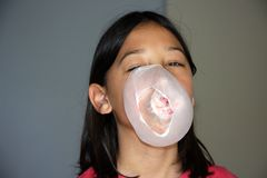 Bubble poping Stock Photography