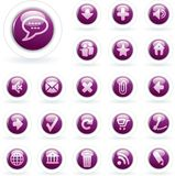 Bubble purple white Stock Photography