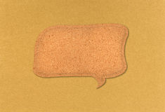 Bubble Quote From Cork Board Stock Image
