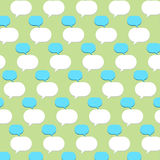 Bubble quote patterns Royalty Free Stock Image