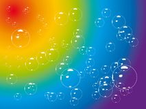 Bubble rainbow Royalty Free Stock Image