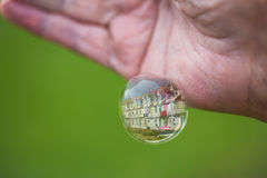 Bubble and reflections. Royalty Free Stock Photo