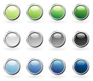 Bubble ring color buttons Royalty Free Stock Image