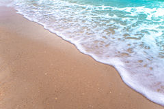 Bubble of Sea wave on sand Stock Images